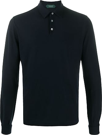 Zanone long-sleeve polo shirt - Blue