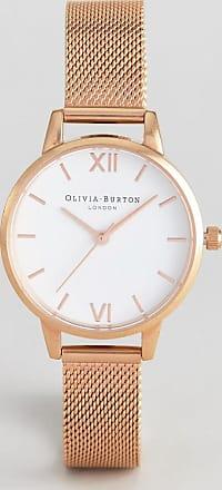Olivia Burton OB16MDW01 Hackney midi mesh watch in rose gold