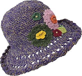 Gheri Hemp Cotton Straw Sun Hat Panama Wide Brim Summer Holiday Colorful Rainbow B