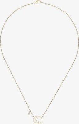 Yvonne Léon Womens 9k Yellow Gold Elephant Necklace