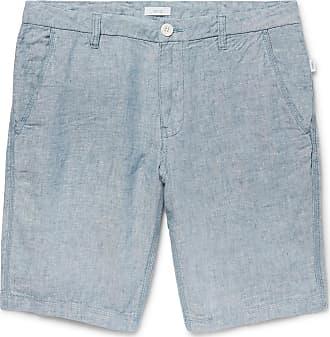 Onia Linen-chambray Shorts - Light blue