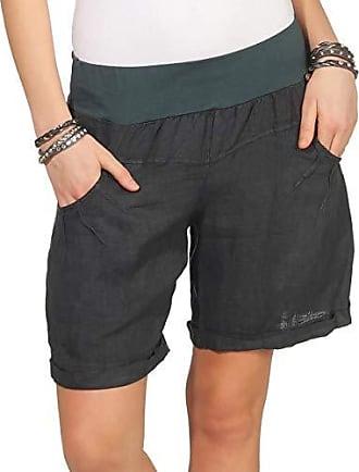 SUBLEVEL Damen Chino Shorts mit schmalem Flechtgürtel Lockere Kurze Hose
