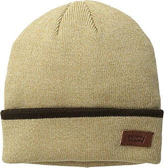 0ffa0907 Levi's Mens Max Warmth Beanie with Solid Cuff Tipping Stripe, Khaki  Heather, One Size
