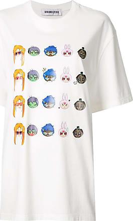 Ground-Zero Camiseta oversized com estampa gráfica - Branco
