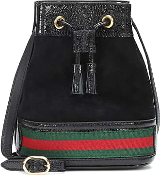 c69d5bb1ff59a1 Ophidia Mini Textured Leather-trimmed Suede Bucket Bag - Black. Delivery:  free. Gucci Ophidia leather bucket bag