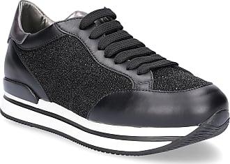 Hogan Sneaker low H222 Glattleder Glitter Glitzer schwarz c2d38dc513