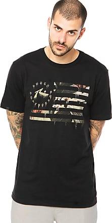 Rusty Camiseta Manga Curta Rusty Flagged Preta