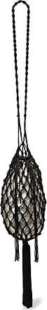 Cult Gaia Tallulah Bean Macramé And Acrylic Shoulder Bag - Black