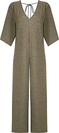 Osklen back tie jumpsuit - NEUTRALS