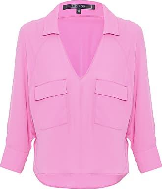 Shoulder Camisa Ampla Rosa