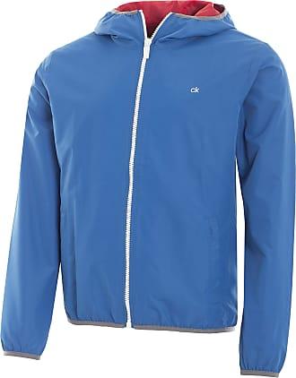 Calvin Klein Mens 365 Hooded Jacket, Marine Blue, XXL