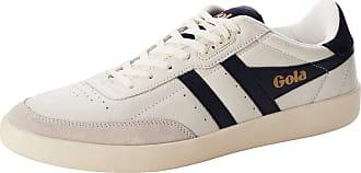 Gola Mens Inca Leather Trainers, White (Off White/Navy/Off White Wx), 8 (42 EU)