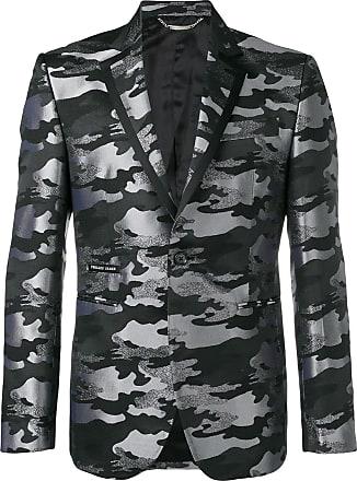Philipp Plein camouflage blazer - Cinza