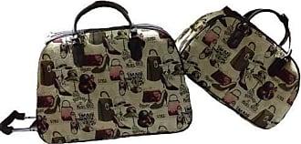Blitz Feminina Kit Conjunto Mala De Viagem Com Rodinhas E Mala De Mão - Sapatos e Bolsas