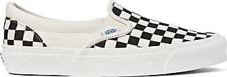 Vans Og Classic Lx Checkerboard Canvas Slip-on Sneakers - Black