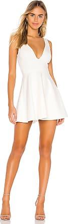 Superdown Vika Deep V Dress in White