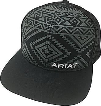 Ariat Mens Aztec Black Flat Bill Cap, One Size