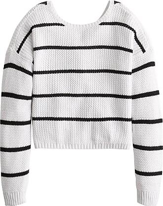 Hollister Pullover weiß / schwarz