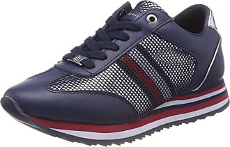 e216af5a5660 Tommy Hilfiger Womens Tommy Corporate Flag Sneaker Low-Top, Blue Navy 406, 5