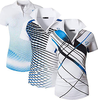Jeansian Womens 3 Packs Sport Quick Dry Polo T-Shirt SWT251 PackG XL