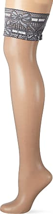 Fiore Womens Melita/Golden Line Classic Hold - up Stockings, 20 DEN, Grey, Small (Size: 2)