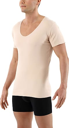 Nude-Coloured Albert Kreuz Invisible Women/'s Business Undershirt with Short Sleeves and deep U-Neck Made of Extra-Light Stretch-Cotton