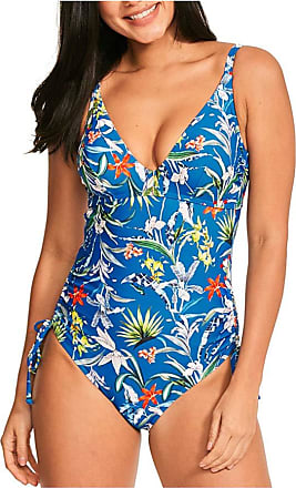 Figleaves Womens Botanical Garden Swimsuit Size 34FF in Blue Floral