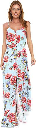 Lez a Lez Vestido Lez a Lez Longo Evasê Rayon Bali Azul
