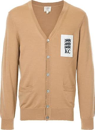 Kent & Curwen lion patch cardigan - Brown