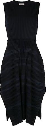 Nina Ricci Vestido suéter listrado e canelado - Azul