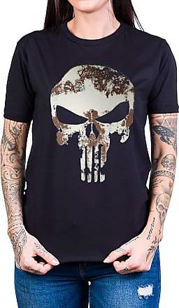 Bandalheira Camiseta Justiceiro Manchado Manga Curta