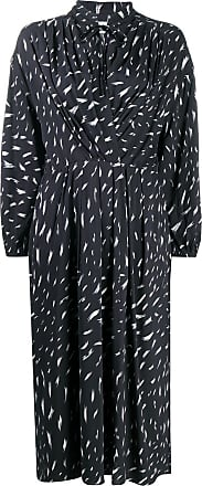 Iro tie-neck abstract midi dress - Black