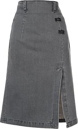 Olivier Theyskens denim pencil skirt - Cinza