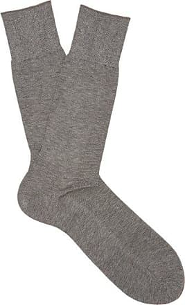 Falke No 9 Cotton-blend Socks - Mens - Grey