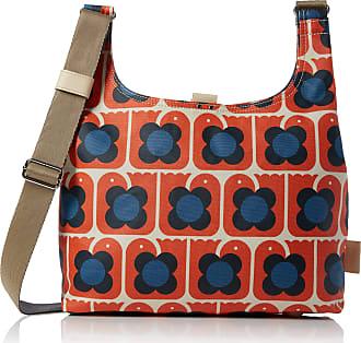 Orla Kiely Womens Love Birds Print Midi Sling Bag Shoulder Handbag, Orange (Persimmon), 10x25.5x35.5 cm (W x H x L)