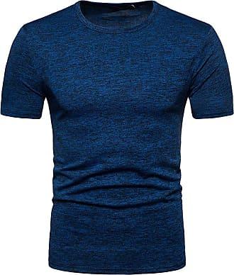 NPRADLA Mens Summer Stripe Print V Neck Pullover Short Sleeve T-Shirt Top Blouse Polo Shirts