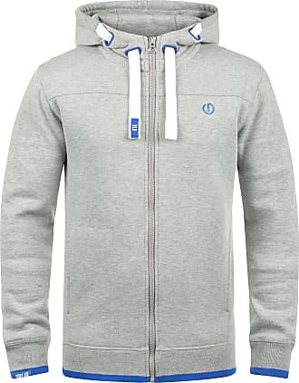 Solid Benjamin Zip Mens Sweater Zip Jacket, size:M;colour:Light Grey Melange (8242)