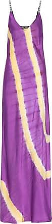 Palm Angels Tie-dye satin slip maxi dress