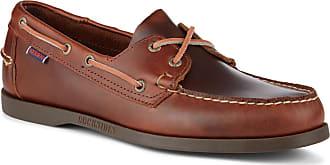 Sebago Portland Suede Herren Braun Wildleder Bootsschuhe Halbschuhe 46