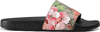 Gucci GG Blooms Supreme slide sandals - Black