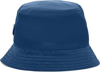 Prada Cappello bucket con placca logo - Di colore blu