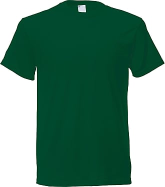 Universal Textiles Mens Short Sleeve Casual T-Shirt (X Large) (Dark Green)