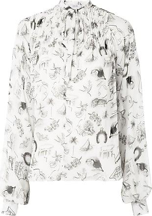 Isolda Camisa de seda estampada - Branco