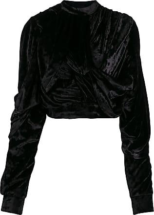 Y / Project crushed velvet top - Preto