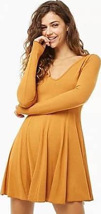 Forever 21 Forever 21 V-Neck Skater Dress Marigold