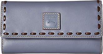 Dooney & Bourke Florentine Checkbook Organizer (Steel Blue/Steel Blue Trim) Checkbook Wallet
