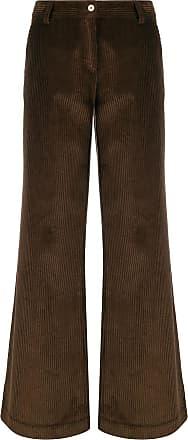JEJIA Calça cintura alta de veludo cotelê - Marrom
