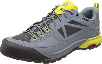 Salomon Mens X Alp Spry GTX Low Rise Hiking Boots, Grey (Stormy Weather/Magnet/Citronelle 000), 8.5 UK