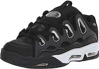 Osiris Mens D3 2001 Skate Shoe, Black/White/Silver, 5 M US