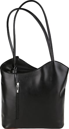 Chicca Borse Woman Shoulder Bag in Genuine Leather Made in Italy 28x30x9 Cm